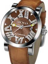 Locman Mens Toscano Diamond Watch Brown 29000BNNDNCAON Image