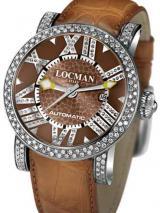 Locman Mens Toscano Diamond Watch Brown 290POBNNDNCAON Image