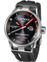 Locman Mens Monte Cristo Automatic Watch Black 511BKRDBK Image