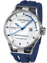 Locman Mens Monte Cristo Automatic Watch White/Blue 511WHBLBL Image