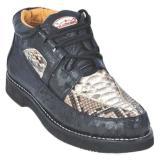 Los Altos Ostrich Leg Casual Shoes Black / Natural Image