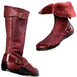 Mauri Mood 50032 Alligator Shearling Boots Ruby Red (Special Order) Image