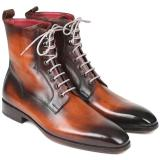 Paul Parkman Leather Lace Up Boots Burnished Brown Image