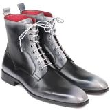Paul Parkman Leather Lace Up Boots Burnished Gray Image