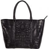 Zelli Allison Genuine Alligator Tote Bag Black Image