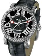Locman Mens Toscano Diamond Watch Black 290POBKNDNCAOK Image