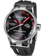 Locman Mens Monte Cristo Automatic Watch Black 511BKRDBK Image