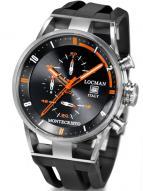 Locman Mens Monte Cristo Oversize Titanium Water Resistant Chrono Watch Black 510BKORBK Image