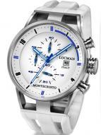 Locman Mens Monte Cristo Oversize Titanium Water Resistant Chrono Watch White 510WHBLWH Image