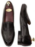 Zelli Como Peccary Split Toe Slip On in Black Image