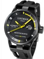 Locman Mens Monte Cristo Automatic Ceramic Coated Watch Black 511BKYLPVBK Image