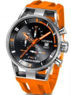 Locman Mens Monte Cristo Oversize Titanium Water Resistant Chrono Watch Orange 510BKOROR Image