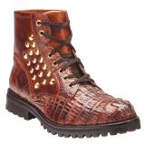 Belvedere Rovigo Hornback & Calfskin Boots Brandy / Antique Brown Image
