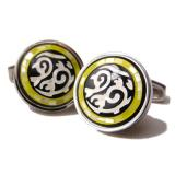 Daniel Dolce Mosaic Mother of Pearl & Onyx Cufflinks DI91R8 Image