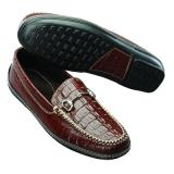 David Spencer Croco Bit Driving Loafers Brown Image