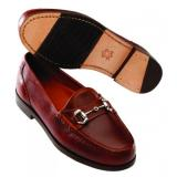 David Spencer LaSalle Smooth Leather Bit Loafers Brown Image
