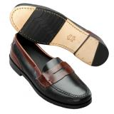 David Spencer Marco Penny Loafers Saddle Black/Brown Image