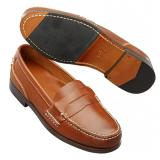 David Spencer Marco Penny Loafers Saddle Tan Image