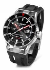 Locman Mens Monte Cristo Professional Diving Watch Black 513BKRDBK Image