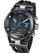Locman Mens Monte Cristo Oversize Titanium Water Resistant Chrono Watch Black 510BKBLPVBK Image