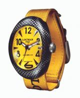 Locman Mens Nuovo Carbonia Watch Yellow 100YLCRBQ Image