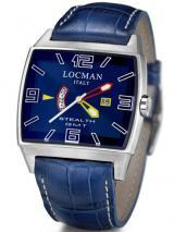 Locman Mens Stealth GMT Video Watch Blue 30000BLFYLRPSB Image