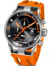 Locman Mens Monte Cristo Oversize Titanium Water Resistant Chrono Watch Orange 510BKOROR Image