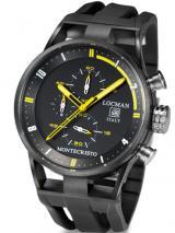 Locman Mens Monte Cristo Water Resistant Ceramic Coated Chrono Watch Black 510BLYLPVBK Image