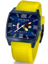 Locman Mens Stealth Watch GMT Video Ceramic Coating Yellow 300BLPVBLYLR Image