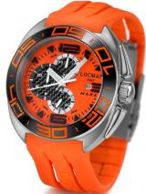 Locman Mens Mare Chrono Titanium Water Resistant Watch Orange 138OR Image