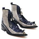 Mauri 44187 Dragon Croc Hornback Ostrich Leg Boots Wonder Blue Image
