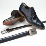 Mauri 4580 Bernini Alligator Derby Shoes Image