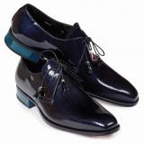Mauri 4801 Mantegna Patent Leather Shoes Blue Image