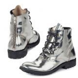 Mauri 53144 Calfskin Boots Metallic Silver Image