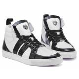 Mauri 8410 Blackjack Crocodile / Patent / Nappa Sneakers Black/White Image