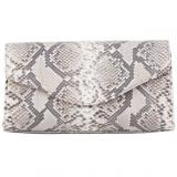 Zelli Catalina Genuine Python Clutch Natural Image