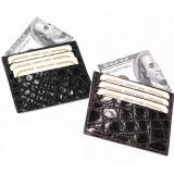 Zelli Crocodile Card Holder Image