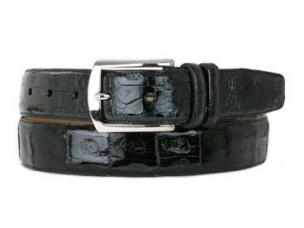 Mezlan Genuine Crocodile Belt Black Image