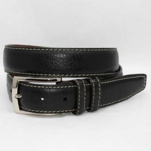 Torino Leather American Bison Belt - Black Image