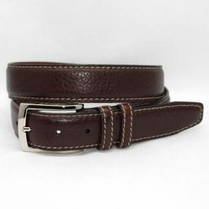 Torino Leather Big & Tall American Bison Belt - Brown Image