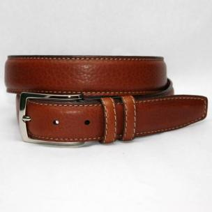 Torino Leather Big & Tall American Bison Belt - Tan Image