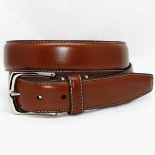 Torino Leather Burnished Tumbled Glove Belt - Luggage Image