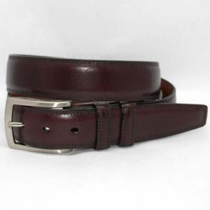 Torino Leather Burnished Veal Belt - Cordovan Image