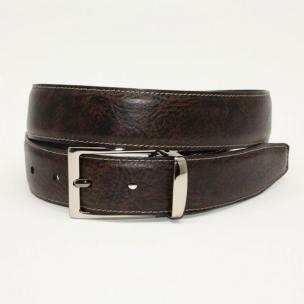 Torino Leather Calfskin Reversible Belt  Swivel Buckle - Black/Brown Image