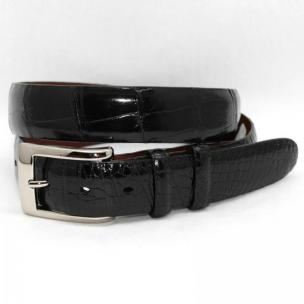 Torino Leather Genuine American Alligator Belt - Black Image