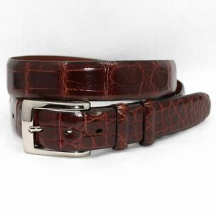 Torino Leather Genuine American Alligator Belt - Cognac Image