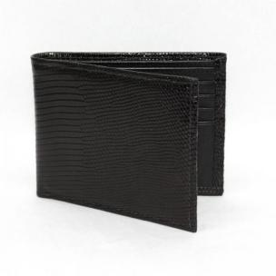 Torino Leather Genuine Lizard Billfold - Black Image