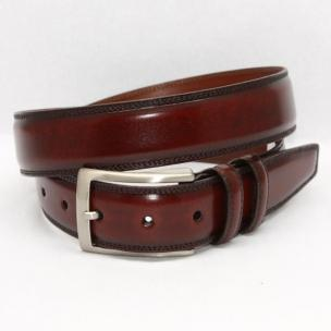 Torino Leather Hand Stained Italian Calf Belt - Tan Image