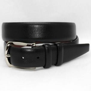 Torino Leather Italian Bulgaro Calf Belt - Black Image