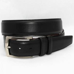 Torino Leather Italian Burnished Calf Belt - Black Image